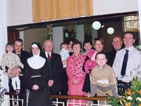 Solemn Profession with family